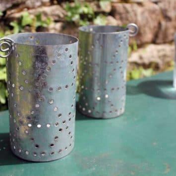 Photophore en zinc recyclé. Tanzanie.