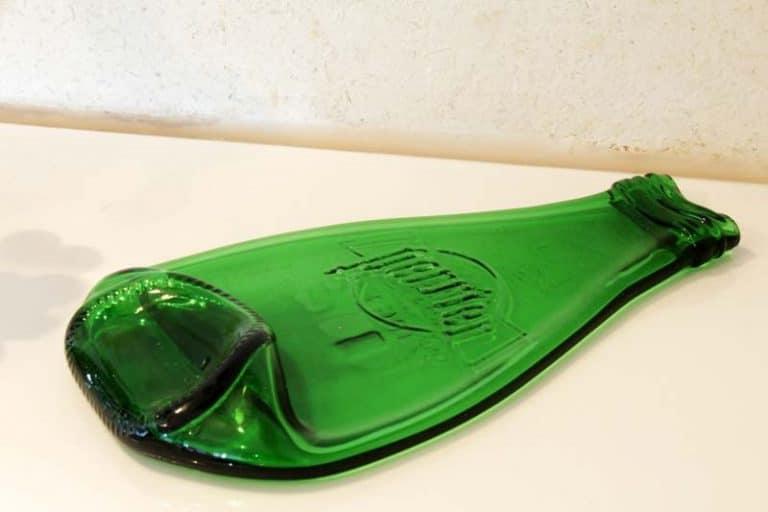 """Petit plateau - porte savon """"Perrier"""" en verre thermoformé 15 x 9 cm. Bretagne. France. ECONOMAD"""