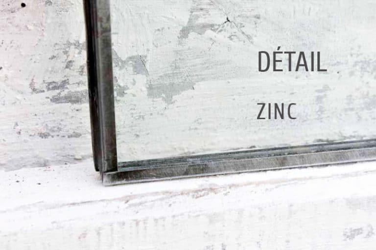 Exemple de cadres photos en zinc recyclé. Travail artisanal, signé Nkuku.