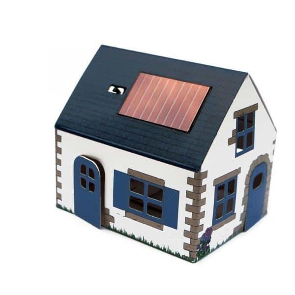 Veilleuse solaire Casagami, maison Ty Breizh, par Litogami (France).