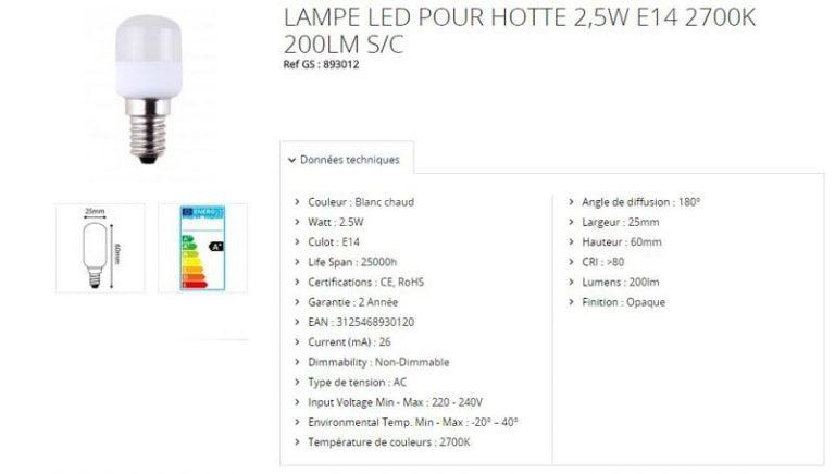 Ampoule LED 2,5 W