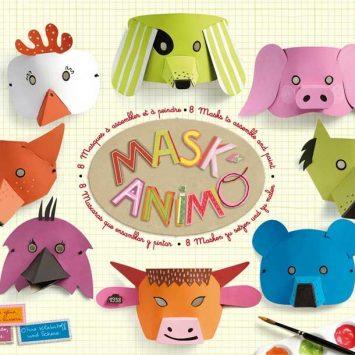 Mask'Animo- 8 masques- Découpage créatif. Mitik (France).