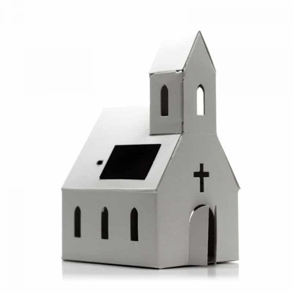"Veilleuse solaire Casagami ""Eglise"", Litogami (France)."