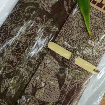 Carnet ESCAPADE Bambou. Chocolat/ Beige.Papier Lokta. NEPAL. Lamali.