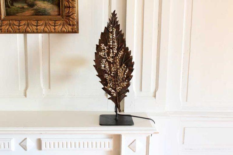 """Lampe """"Feuille de tremble"""", métal recyclé. Fait main.Arrosoir & Persil."""
