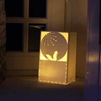 "Lanterne ""Le renard et la lune"" Ninn Apouladaki. FRANCE."