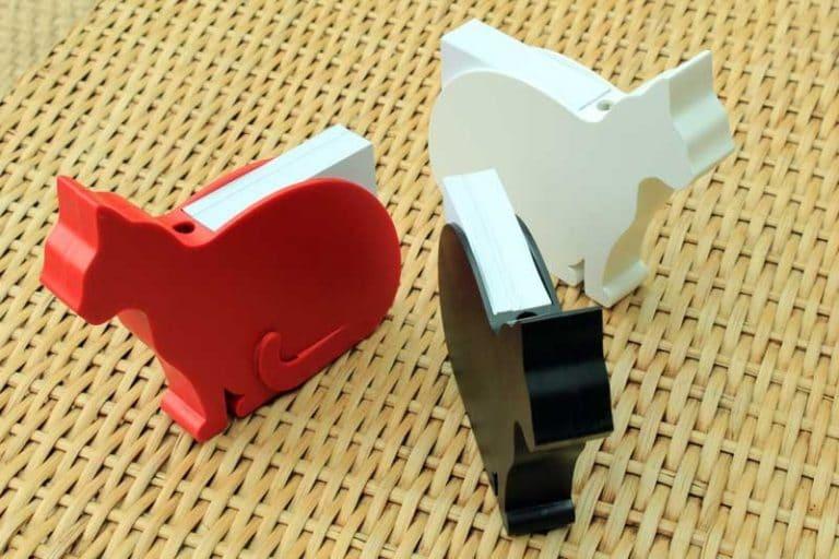 FELIX le chat. Pour bloc-notes, filtres, serviettes|Plastique recyclé. Lib (France).