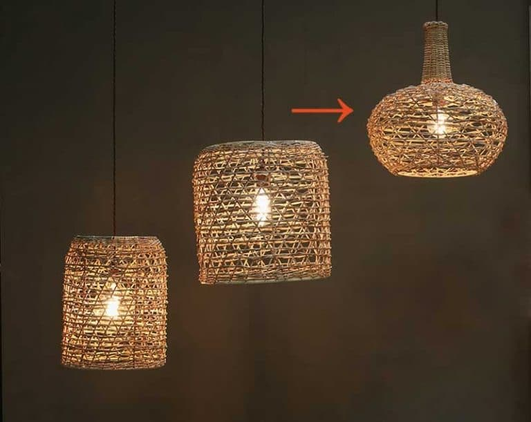 Lampe suspension en rotin naturel. Artisanal. Indonésie. Nkuku.