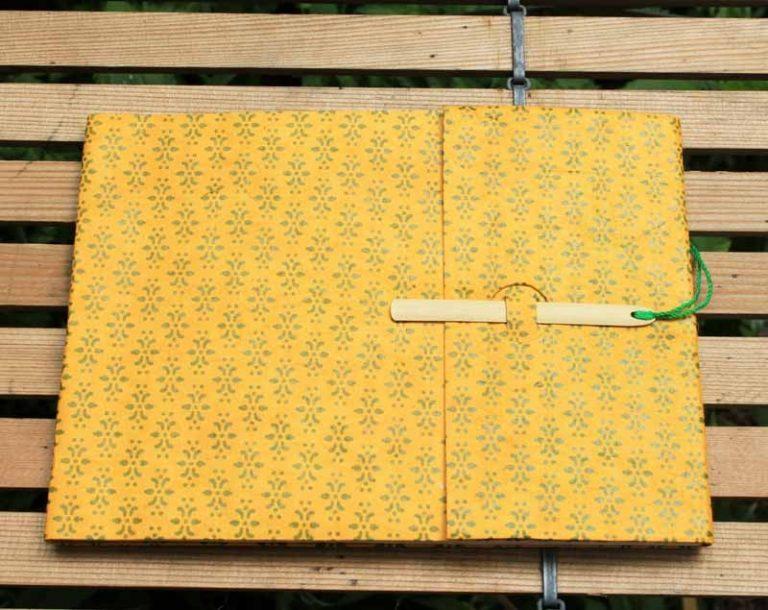 Carnet GOLOK. Papier vergé & fibres naturelles. Lamali