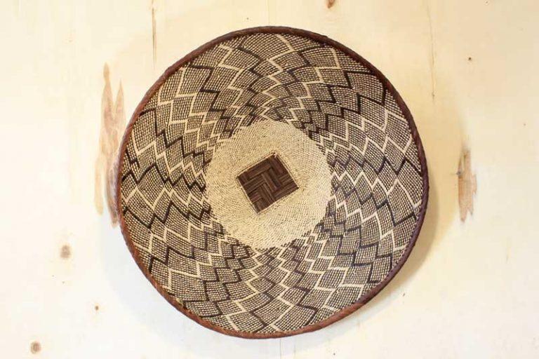 Panier Batonga Ø 58 cm traditionnelle. Zimbabwe.