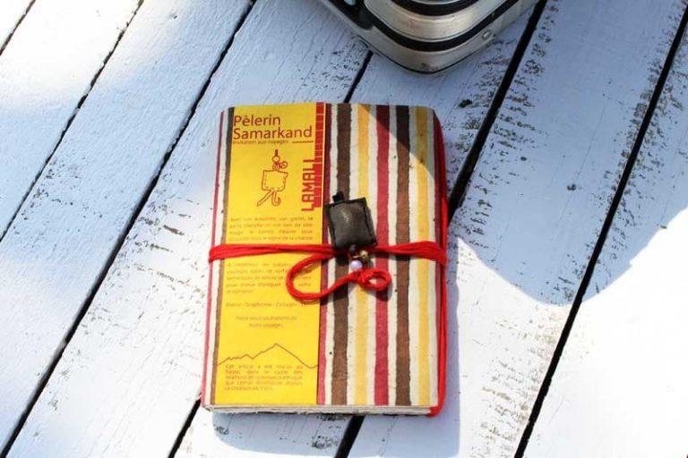 """Carnet PELERIN """"Passage"""" de voyage & d'écriture. Papier Lokta. NEPAL. Lamali."""