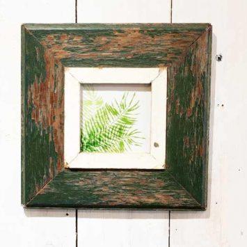 Cadre photo 23x23 cm en bois de récupération. Afrique du Sud.