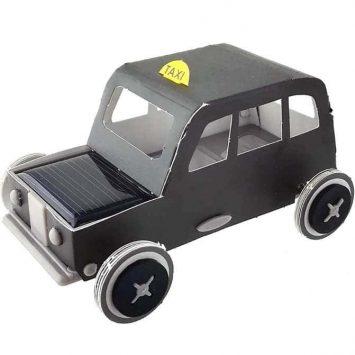 """Voiture solaire """"Taxi de Londre"""". Litogami (France)."""