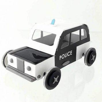 """Voiture solaire """"Police"""" de Litogami (France)."""