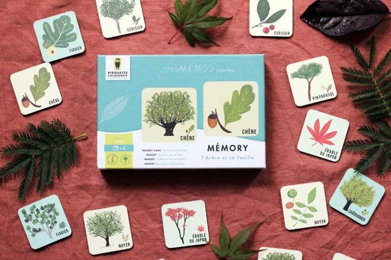 Mémory. L'arbre et sa feuille. France. Pirouette-Cacahouète