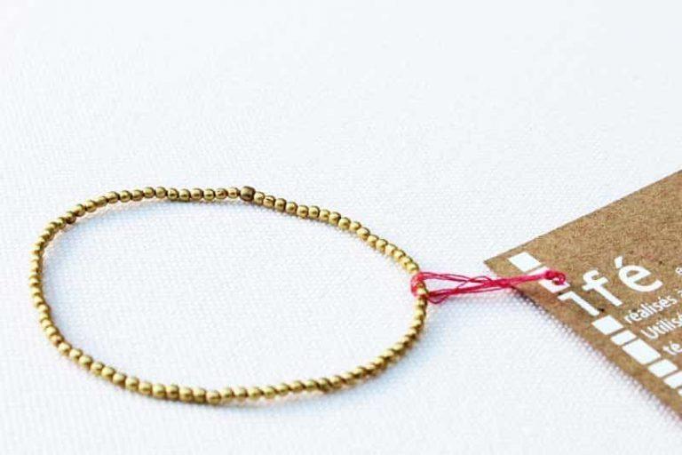 """Bracelet fines perles de laiton """"Ifé"""". Népal. Lamali"""