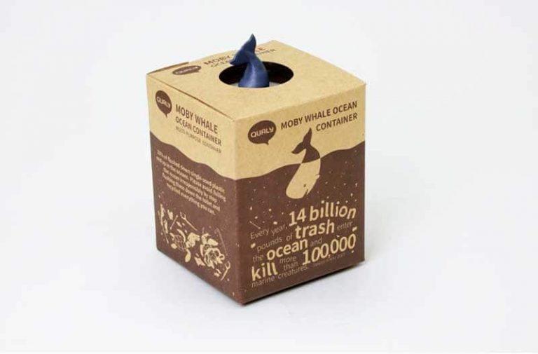 Boîte de rangement Baleine. Plastique recyclé.