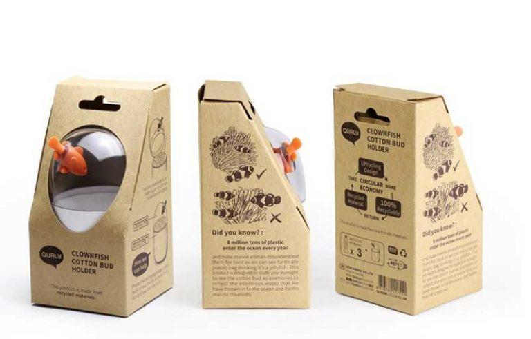 Boîte de rangement Poisson Clown. Plastique recyclé.