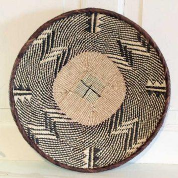 Panier Batonga Ø 25 - 30 cm traditionnelle. Zimbabwe.