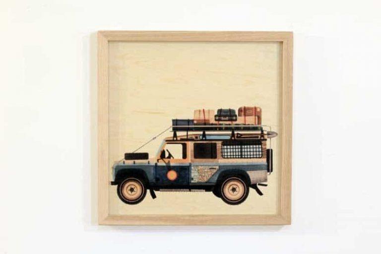 Poster + CADRE en bois d'érable du Jura. 30 x 30 cm. FRANCE.