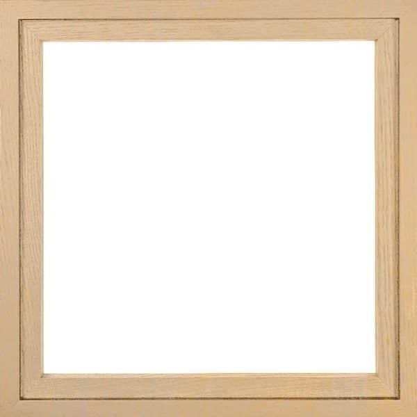 ABC-Poster + cadre en bois d'érable du Jura. 30 x 30 cm. FRANCE.