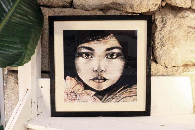 """""""Lumière"""" Birmanie. Reproduction encadrée et signée. Stéphanie Ledoux."""