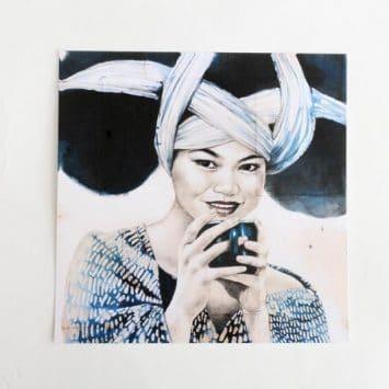 """""""Pause thé Miaos"""". Carte postale, sur Papier d'art. Stéphanie Ledoux."""