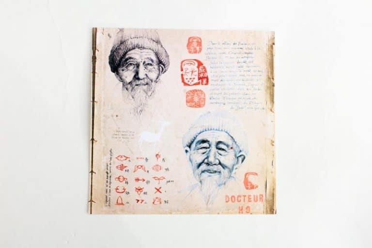"""""""Docteur Ho"""". Carte postale, sur Papier d'art. Stéphanie Ledoux."""