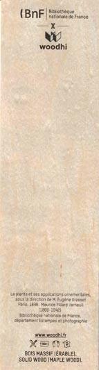 Marque- page en bois d'érable du Jura. FRANCE.