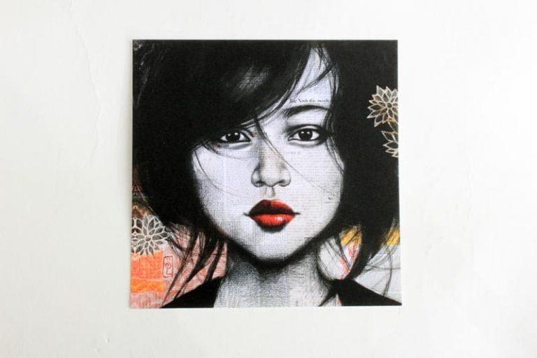 """""""Fille de Soho"""". Carte postale, sur Papier d'art. Stéphanie Ledoux."""