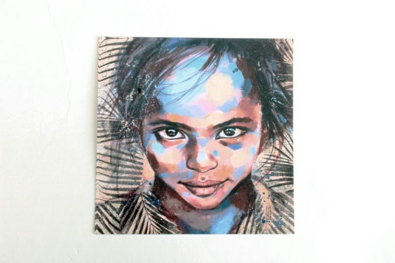 """""""Assayta- Ethiopie"""". Carte postale, sur Papier d'art. Stéphanie Ledoux."""