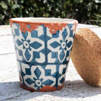 Bougie artisanale Bergamote + pot réutilisable. Fait main. Espagne.