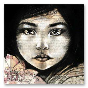 """""""Lumière"""" Birmanie. Reproduction signée, sur Papier d'art. Stéphanie Ledoux."""