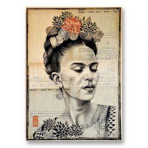 """""""Frida N&B"""". Reproduction signée, sur Papier d'art. Stéphanie Ledoux."""